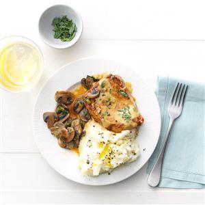 Tarragon-Dijon Pork Chops Recipe