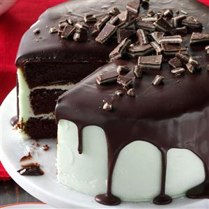 Mint-Frosted Chocolate Cake Recipe