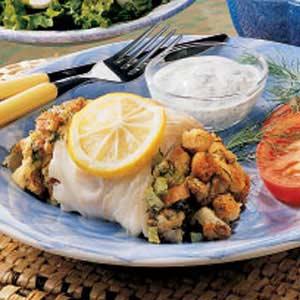 Fennel Stuffed Cod