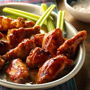 Glazed chicken wings recipe taste of home glazed chicken wings recipe forumfinder Image collections