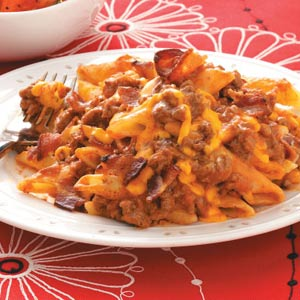 Bacon Cheeseburger Pasta Recipe