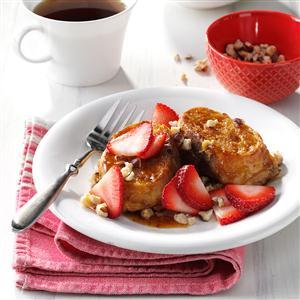 Strawberry-Hazelnut French Toast Recipe