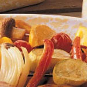 Orange Vegetable Kabobs Recipe
