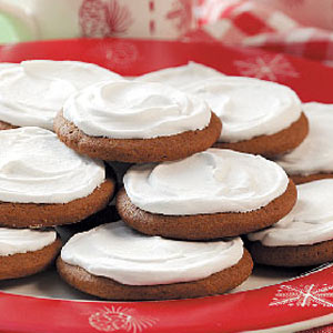 Frosted Molasses Cookies Recipe