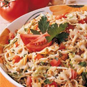 Cabbage-Tomato Pasta Toss Recipe