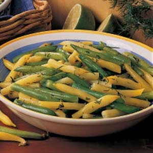Mixed Beans With Lime Butter Recipe