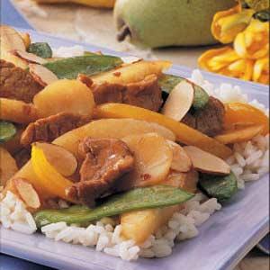 Pork and Pear Stir-fry Recipe