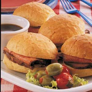 Sirloin Sandwiches Recipe