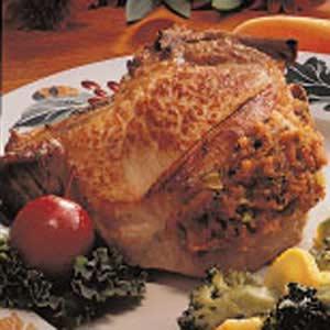 Herb Stuffed Pork Chops Recipe