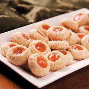 Apricot Sesame Cookies Recipe