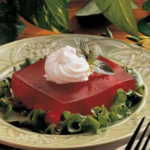 Cherry Gelatin Squares Recipe