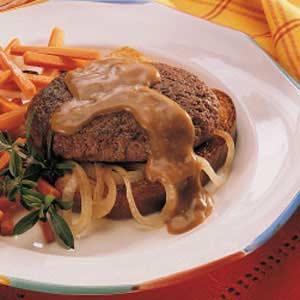 Onion Salisbury Steak Recipe