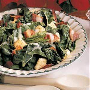 Warm Bacon Spinach Salad Recipe