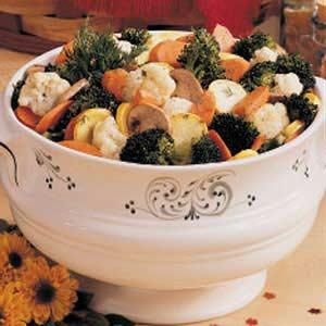 Overnight Marinated Vegetable Salad Recipe