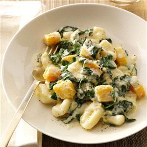 Ricotta Gnocchi with Spinach & Gorgonzola Recipe