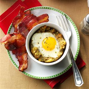 Baked Egg & Stuffing Cups Recipe