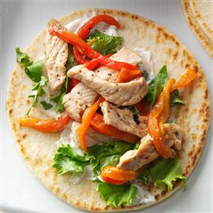 Peppered Pork Pitas Recipe