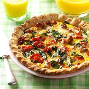 Roasted Tomato Quiche Recipe