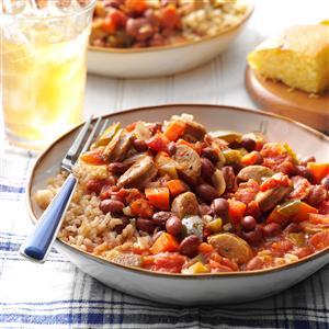 Cajun-Style Beans and Sausage Recipe