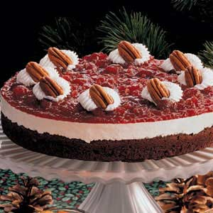 Cranberry Brownie Torte Recipe