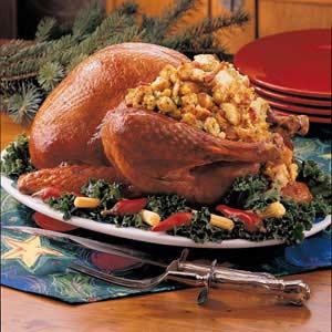 Two-Bread Stuffed Turkey Recipe