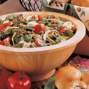 Hearty Spinach Salad Recipe