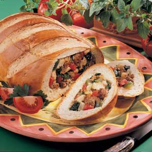 Stuffed Bread Boat Recipe