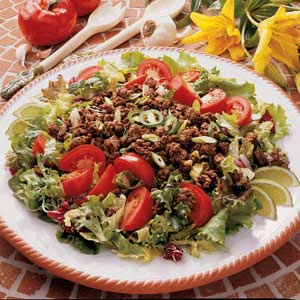 Spicy Ground Beef Salad Recipe