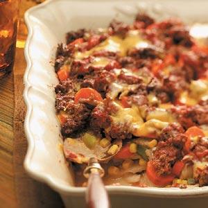 Layered Beef Casserole Recipe