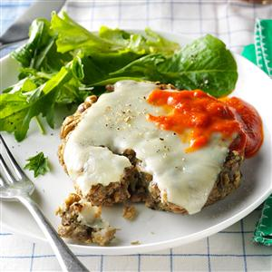 Italian Herb-Lentil Patties with Mozzarella Recipe
