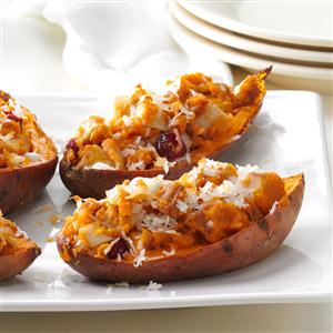Triple-Stuffed Sweet Potatoes Recipe