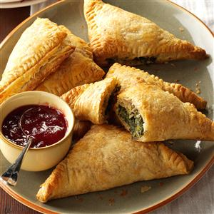 Spinach & Turkey Turnovers Recipe