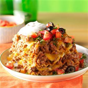 Mexican lasagna recipe taste of home mexican lasagna recipe forumfinder Gallery