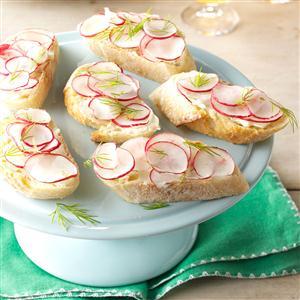 Buttery Radish Baguette Recipe