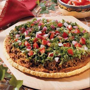 Refried Bean Pizza Recipe