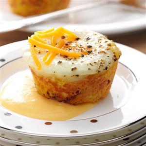 Shirred Egg Corn Muffins Recipe