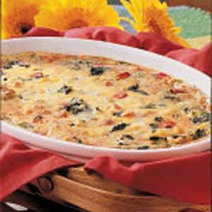 Spinach Cheese Strata Recipe
