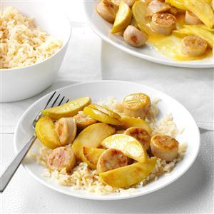 Honey Mustard Apple Chicken Sausage Recipe