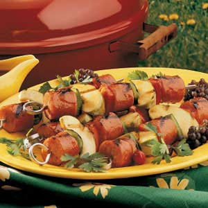 Apple Kielbasa Kabobs