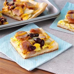 Maple Cran-Apple Breakfast Pizza Recipe