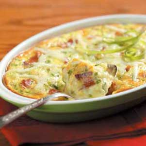 Jack Cheese Oven Omelet Recipe