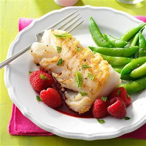 Cod with Raspberry Sauce Recipe