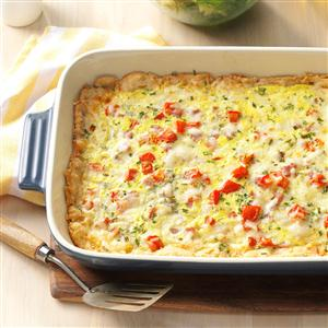 Chive-Ham Brunch Bake Recipe