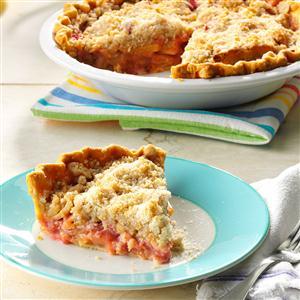 Apple Rhubarb Crumb Pie Recipe