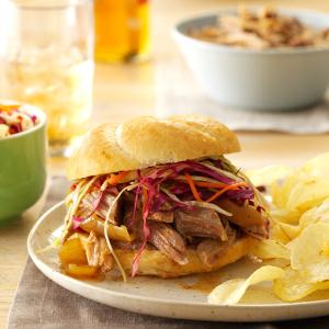 Sweet & Spicy Pulled Pork Sandwiches Recipe