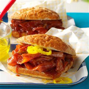 Slow Cooker BBQ Ham Sandwiches Recipe