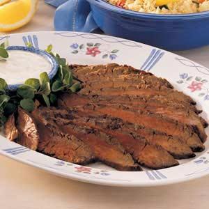 Flank Steak with Horseradish Sauce Recipe