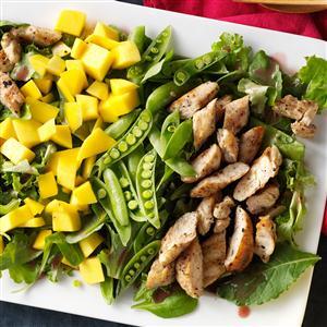 Mango & Grilled Chicken Salad Recipe