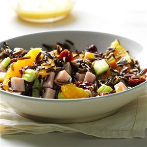 Orange-Wild Rice Salad with Smoked Turkey