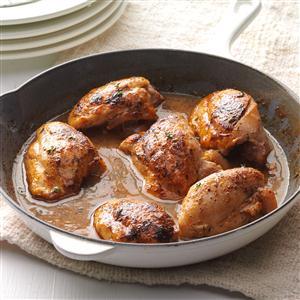 Apple-Glazed Chicken Thighs Recipe